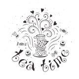 Teezeitplakat Lizenzfreies Stockfoto