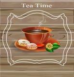 Teezeitplakat Stockbild