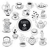 Teezeitsatz Lizenzfreie Stockfotos