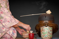 Teezeremonie lizenzfreies stockfoto