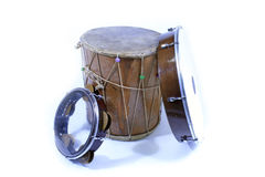 Tef, zilli tef, davul. Traditional Turkish Folk Music Instrument Royalty Free Stock Image
