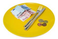 Tefat av pengar arkivfoto
