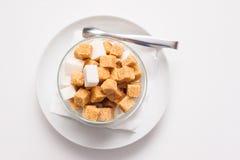 Tefat med socker Fotografering för Bildbyråer