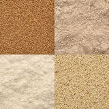 Teff grain and flour set Royalty Free Stock Image