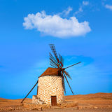 Tefia windmill Fuerteventura at Canary Islands Royalty Free Stock Images