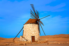 Tefia windmill Fuerteventura at Canary Islands Royalty Free Stock Photography