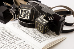 Tefillin with siddur Stock Photography