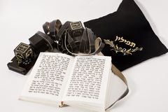 Tefillin with siddur royalty free stock photos