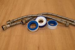 Teflon ed estremità sanitarie per le riparazioni fotografia stock libera da diritti
