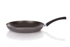 Teflon frying pan isolated Royalty Free Stock Images
