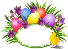 Teg de félicitations lumineux de Pâques Image stock