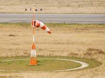 tegel för flygplatsberlin germany socka wind Arkivfoto