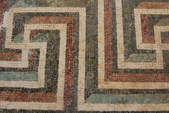 Tegel Maze Pattern Royalty-vrije Stock Fotografie