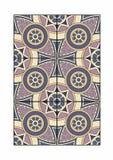 Tegel met cilindrische patronen Stock Afbeelding