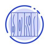 Tegel, Meubilair, Binnenland, Ontwerp, Hout, de Lijnpictogram van de Textuur Blauw Gestippelde Lijn royalty-vrije illustratie