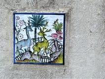 Tegel op gipspleistermuur, Heilige Augustine, Florida royalty-vrije stock afbeeldingen
