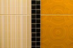 Tegel oranje achterachtergrond Stock Foto