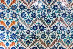 Tegel patern van het Paleis Topkapı in Istanboel, Turkije Stock Afbeelding