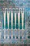 Tegel patern van het Paleis Topkapı in Istanboel, Turkije Stock Foto