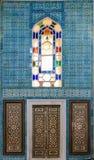 Tegel patern van het Paleis Topkapı in Istanboel, Turkije Stock Fotografie
