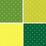 Tegel vectordiepatroon met witte stippen op munt groene achtergrond wordt geplaatst Stock Foto's