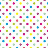 Tegel vectorpatroon met pastelkleurstippen op witte achtergrond Royalty-vrije Stock Foto's