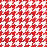 Tegel vectorpatroon met rode en witte houndstoothachtergrond Royalty-vrije Stock Afbeelding