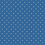 Tegel vectorpatroon met witte stippen op donkerblauwe achtergrond Royalty-vrije Stock Afbeeldingen
