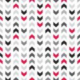 Tegel vectorpatroon met zigzagpijlen op witte achtergrond royalty-vrije illustratie