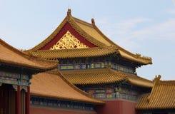 Tegel in Verboden Stad, Peking stock fotografie