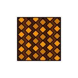 Tegel, Vloer, Plak, Vierkant, Strepen, Tegels, Pictogram van de Muur het Vlakke Kleur Het vectormalplaatje van de pictogrambanner stock illustratie