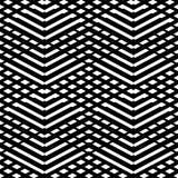 Tegel zwart-wit vectorpatroon of noordse achtergrond Stock Fotografie