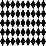 Tegel zwart-witte achtergrond of vectorpatroon Stock Afbeelding