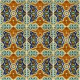 Tegelachtergrond, Marokkaans ornamentpatroon Stock Foto