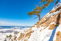 Tegelberg im Winter lizenzfreie stockfotografie