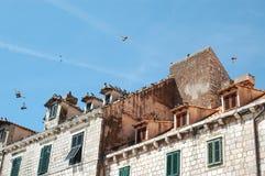 Tegeldaken in oude stad van Dubrovnik Kroatië Royalty-vrije Stock Fotografie