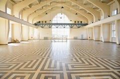 Tegelpatroon van de Bouw van een Zaal, Radiokootwijk, Nederland stock afbeeldingen