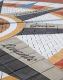 tegelplatta för kompassdetaljmosaik Arkivbild