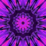 Tegelplatta för stjärna för abstrakt mörk ultraviolett effekt för mandalabakgrundsdesign glänsande Arkivbild