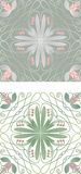 Tegelplatta med blom- bevekelsegrund Arkivbilder