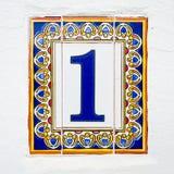 Tegelplatta nummer ett Royaltyfria Bilder