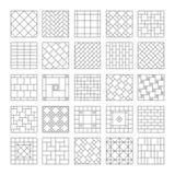 Tegelplatta och mosaik för design keramisk Sammansättning av tegelplattan, mosaik på väggen eller på golvet Geometriskt dekorativ Arkivfoto