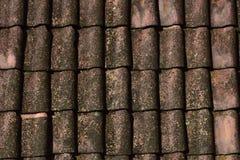 Tegelplatta tak, tak av ett hus arkivfoton