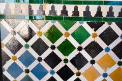 Tegelplattamosaik i Alhambra Royaltyfri Foto