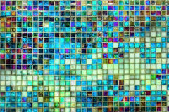 Tegelplattamosaikbakgrund Arkivbild