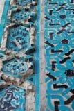 Tegelplattan av Malatya den storslagna moskén, Turkiet Arkivfoto