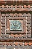 Tegelplattan av templet av halshuggningen av John The Baptist i staden av Yaroslavl, Ryssland arkivbild