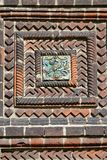 Tegelplattan av templet av halshuggningen av John The Baptist i staden av Yaroslavl, Ryssland royaltyfri foto