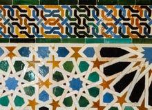 Tegelplattor av alhambra Spanien Royaltyfria Bilder