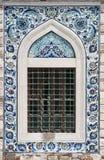 Tegelplattor av den Konak moskén i Izmir Fotografering för Bildbyråer